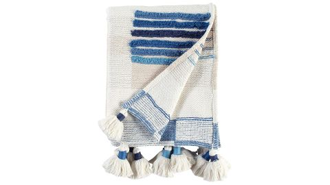 """<strong>Rivet Global Textured 100% Throw Blanket With Large Tassels ($73.21, originally 79.99; </strong><a href=""""https://amzn.to/2V9Y7Gi"""" target=""""_blank"""" target=""""_blank""""><strong>amazon.com</strong></a><strong>)</strong><br />A textured throw blanket to help mom spruce up her space<br />"""