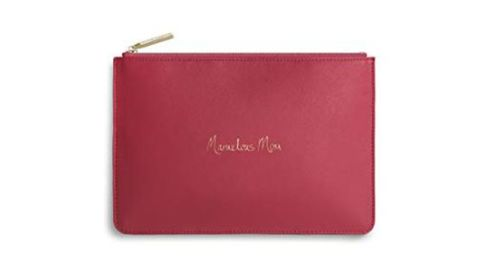 """<strong>Katie Loxton Perfect Pouch Marvellous Mom ($25; </strong><a href=""""https://amzn.to/2DGarn0"""" target=""""_blank"""" target=""""_blank""""><strong>amazon.com</strong></a><strong>)</strong><br />Remind mom of how marvellous she is with this cute zip pouch. She can carry it as a clutch or pack it in a tote"""