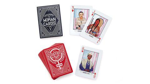"""Woman Card"" Playing Deck ($20; <a href=""https://www.uncommongoods.com/product/woman-card-playing-deck"" target=""_blank"" target=""_blank"">uncommongoods.com</a>)"