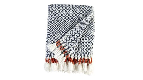 "Hand-Woven Stripe Fringe Throw Blanket ($49.99; <a href=""https://amzn.to/2GMaej6"" target=""_blank"" target=""_blank"">amazon.com</a>)"