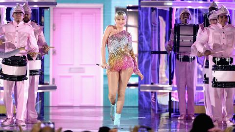 Taylor Swift performs onstage during the 2019 Billboard Music Awards at MGM Grand Garden Arena in Las Vegas on on May 1.
