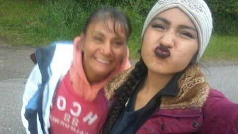 Shacaiah Harding, shown with her mother, Tamera Bearcomesout, went missing last summer from Billings.