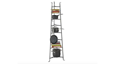 """<strong>Enclume Standing 8-Tier Pot Rack ($349.95; </strong><a href=""""http://redirect.viglink.com?key=cee264513ad8ef39d602f2ea49303f1a&type=bk&u=https%3A%2F%2Fwww.crateandbarrel.com%2Fenclume-standing-8-tier-pot-rack%2Fs673390%3F"""" target=""""_blank"""" target=""""_blank""""><strong>crateandbarrel.com</strong></a><strong>)</strong><br />"""