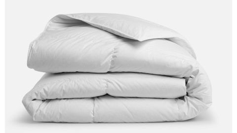 """<strong>Down Comforter ($349; </strong><a href=""""https://www.brooklinen.com/products/down-comforter"""" target=""""_blank"""" target=""""_blank""""><strong>brooklinen.com</strong></a><strong>)</strong><br />"""