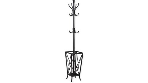 """<strong>Metal Coat Rack with Umbrella Holder in Dark Grey ($69.99; </strong><a href=""""http://www.anrdoezrs.net/links/8314883/type/dlg/sid/0503fivestarhome/https://www.bedbathandbeyond.com/store/product/metal-coat-rack-with-umbrella-holder-in-dark-grey/1063663549"""" target=""""_blank"""" target=""""_blank""""><strong>bedbathandbeyond.com</strong></a><strong>)</strong><br />"""