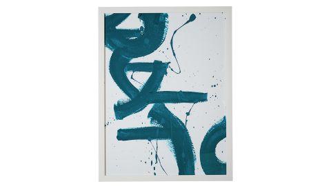 """<strong>MoDRN Scandinavian Downwards Blue Strokes Wall Art ($69; </strong><a href=""""http://linksynergy.walmart.com/deeplink?id=Fr/49/7rhGg&mid=2149&u1=0503fivestarhome&murl=https%3A%2F%2Fwww.walmart.com%2Fip%2FMoDRN-Scandinavian-Downwards-Blue-Strokes-Wall-Art%2F653093291%3F"""" target=""""_blank"""" target=""""_blank""""><strong>walmart.com</strong></a><strong>)</strong>"""