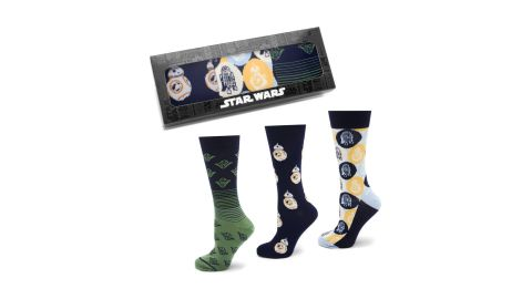 """<strong>Star Wars Rebel Icons 3-Pack Socks ($55; </strong><a href=""""https://click.linksynergy.com/deeplink?id=Fr/49/7rhGg&mid=1237&u1=0503starwarsday&murl=https%3A%2F%2Fshop.nordstrom.com%2Fs%2Fcufflinks-inc-star-wars-rebel-icons-3-pack-socks%2F4966308%3Forigin%3Dkeywordsearch-personalizedsort%26breadcrumb%3DHome%252FAll%2520Results%26color%3Dblue"""" target=""""_blank"""" target=""""_blank""""><strong>nordstrom.com</strong></a><strong>)</strong><br />"""