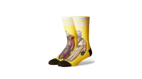 """<strong>Star Wars Junland Waste Socks ($20; </strong><a href=""""https://click.linksynergy.com/deeplink?id=Fr/49/7rhGg&mid=1237&u1=0503starwarsday&murl=https%3A%2F%2Fshop.nordstrom.com%2Fs%2Fstance-star-wars-junland-waste-socks%2F4637354%3Forigin%3Dkeywordsearch-personalizedsort%26breadcrumb%3DHome%252FAll%2520Results%26color%3Dyellow"""" target=""""_blank"""" target=""""_blank""""><strong>nordstrom.com</strong></a><strong>)</strong><br />"""