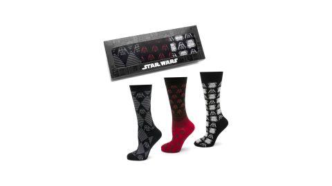 "<strong>Star Wars The Dark Side 3-Pack Socks ($55; </strong><a href=""https://click.linksynergy.com/deeplink?id=Fr/49/7rhGg&mid=1237&u1=0503starwarsday&murl=https%3A%2F%2Fshop.nordstrom.com%2Fs%2Fcufflinks-inc-star-wars-the-dark-side-3-pack-socks%2F4966312%3Forigin%3Dkeywordsearch-personalizedsort%26breadcrumb%3DHome%252FAll%2520Results%26color%3Dblack"" target=""_blank"" target=""_blank""><strong>nordstrom.com</strong></a><strong>)</strong><br />"