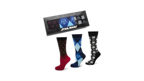 "<strong>Star Wars Darth Vader & Stormtrooper 3-Pack Socks ($55; </strong><a href=""https://click.linksynergy.com/deeplink?id=Fr/49/7rhGg&mid=1237&u1=0503starwarsday&murl=https%3A%2F%2Fshop.nordstrom.com%2Fs%2Fcufflinks-inc-star-wars-darth-vader-stormtrooper-3-pack-socks%2F4966310%3Forigin%3Dkeywordsearch-personalizedsort%26breadcrumb%3DHome%252FAll%2520Results%26color%3Dblack"" target=""_blank"" target=""_blank""><strong>nordstrom.com</strong></a><strong>)</strong><br />"