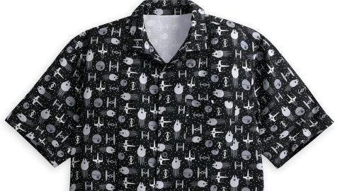 "<strong>Star Wars Button Up Shirt for Men ($59.99; </strong><a href=""https://www.shopdisney.com/star-wars-button-up-shirt-for-men-1504492"" target=""_blank"" target=""_blank""><strong>shopdisney.com</strong></a><strong>)</strong><br />"
