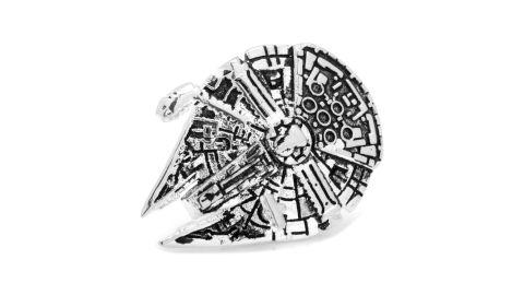 "<strong>Star Wars 3D Millennium Falcon Lapel Pin ($45; </strong><a href=""https://click.linksynergy.com/deeplink?id=Fr/49/7rhGg&mid=1237&u1=0503starwarsday&murl=https%3A%2F%2Fshop.nordstrom.com%2Fs%2Fcufflinks-inc-star-wars-3d-millennium-falcon-lapel-pin%2F4773053%3Forigin%3Dkeywordsearch-personalizedsort%26breadcrumb%3DHome%252FAll%2520Results%26color%3Dsilver"" target=""_blank"" target=""_blank""><strong>nordstrom.com</strong></a><strong>)</strong><br />"