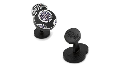 """<strong>Star Wars BB98 Cufflinks ($65; </strong><a href=""""https://click.linksynergy.com/deeplink?id=Fr/49/7rhGg&mid=1237&u1=0503starwarsday&murl=https%3A%2F%2Fshop.nordstrom.com%2Fs%2Fcufflinks-inc-star-wars-bb9e-cuff-links%2F4773041%3Forigin%3Dkeywordsearch-personalizedsort%26breadcrumb%3DHome%252FAll%2520Results%26color%3Dsilver"""" target=""""_blank"""" target=""""_blank""""><strong>nordstrom.com</strong></a><strong>)</strong><br />"""