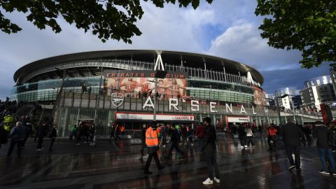 LONDON, ENGLAND - MAY 02:  General view outside the stadium ahead of the UEFA Europa League Semi Final First Leg match between Arsenal and Valencia at Emirates Stadium on May 02, 2019 in London, England. (Photo by Shaun Botterill/Getty Images)