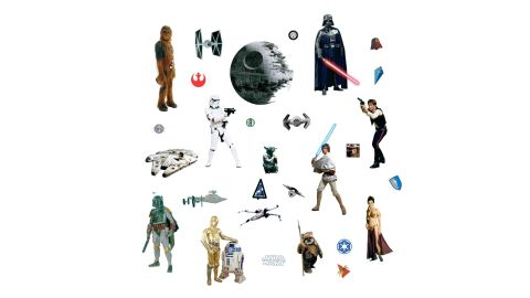 """<strong>Star Wars Classic Peel and Stick Wall Decals ($9.99, originally $13.99; </strong><a href=""""https://amzn.to/2DMaSfz"""" target=""""_blank"""" target=""""_blank""""><strong>amazon.com</strong></a><strong>)</strong><br />"""