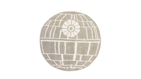 """<strong>Jay Franco Star Wars Classic Gray Death Star Cotton Tufted Bath Rug ($24.99; </strong><a href=""""https://amzn.to/2LlnKiW"""" target=""""_blank"""" target=""""_blank""""><strong>amazon.com</strong></a><strong>)</strong><br />"""