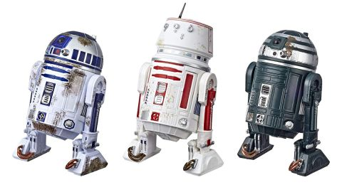 """<strong>Star Wars The Black Series Episode IV: A New Hope R2-D2 (Red Squadron) Droid Figure 3-Pack ($59.99; </strong><a href=""""https://amzn.to/2VcrDeQ"""" target=""""_blank"""" target=""""_blank""""><strong>amazon.com</strong></a><strong>)</strong><br />"""