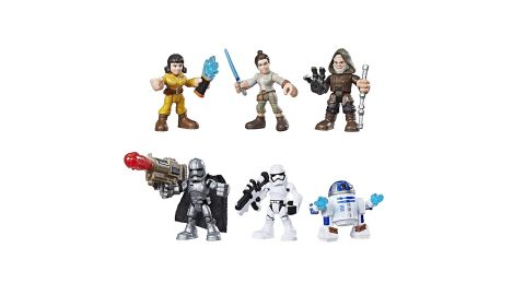 """<strong>Playskool Galactic Heroes Star Wars Resistance VS. First Order Pack ($19.99; </strong><a href=""""https://amzn.to/2DNkN4C"""" target=""""_blank"""" target=""""_blank""""><strong>amazon.com</strong></a><strong>)</strong><br />"""