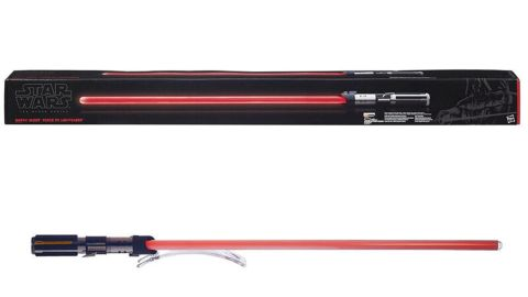"""<strong>Star Wars The Black Series Darth Vader Force FX Lightsaber ($150.50, originally $349.99; </strong><a href=""""https://amzn.to/2GZA18w"""" target=""""_blank"""" target=""""_blank""""><strong>amazon.com</strong></a><strong>)</strong>"""