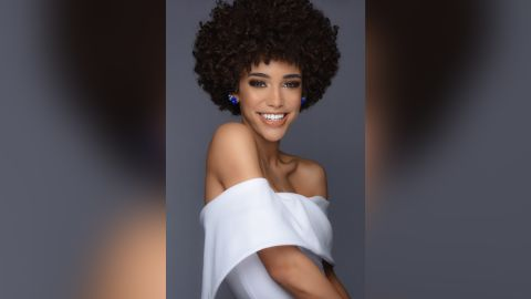 Garris says she feels more confident and comfortable with her naturally curly hair.