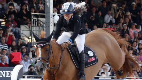 <strong>Shanghai:</strong> Danielle Goldstein rode Lizziemary to the Longines Global Champions Tour title in Shanghai in early May.