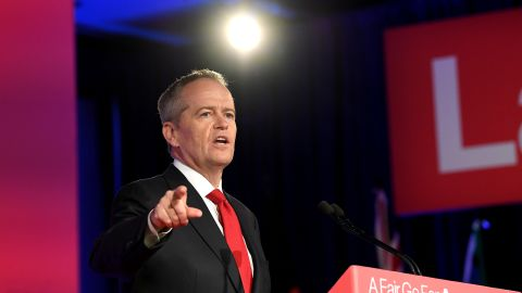 Labor Opposition leader Bill Shorten speaks during the Labor Campaign Launch on May 05, 2019 in Brisbane, Australia.