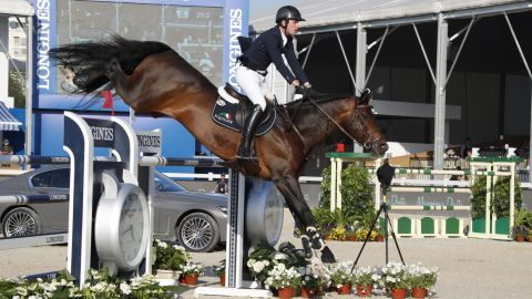 Israel's Goldstein beat Irishman Darragh Kenny on Balou du Reventon by just 0.08 seconds in the jump-off.