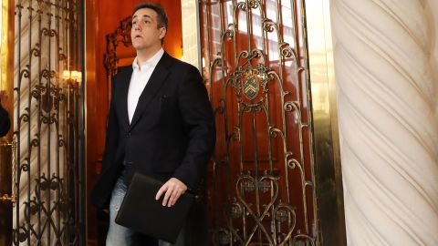 Michael Cohen, the former personal attorney to President Donald Trump, prepares to speak to the media before departing his Manhattan apartment for prison on May 06, 2019 in New York City. Cohen is due to report to a federal prison in Otisville, New York, where he will begin serving a three-year sentence.