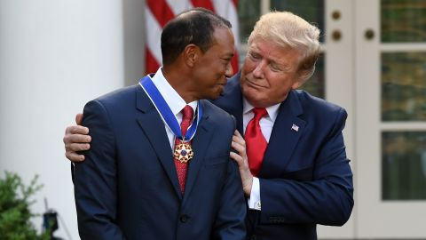 A month after winning the Masters, Woods received the nation's highest civilian honor, the Presidential Medal of Freedom, from President Donald Trump.