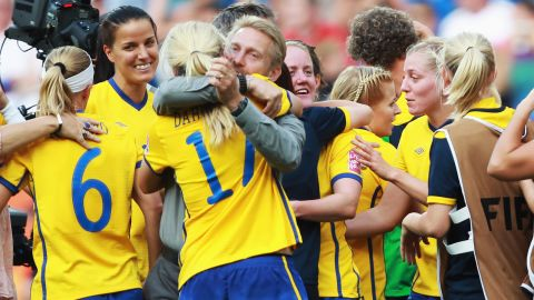 Dennerby guided Sweden to third at the 2011 Women's World Cup.
