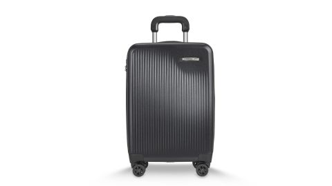 """<strong>Briggs and Riley International Carry-On Expandable Spinner ($579; </strong><a href=""""https://www.briggs-riley.com/shop/sympatico-international-carry-on-expandable-spinner-su121cxsp"""" target=""""_blank"""" target=""""_blank""""><strong>briggs-riley.com</strong></a><strong>) </strong>"""