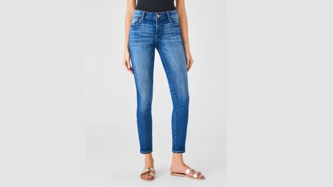 """<strong>DL1961 Florence Ankle Mid Rise Skinny Salerno Jeans ($179; </strong><a href=""""https://www.dl1961.com/collections/women-best-sellers/products/florence-ankle-mid-rise-skinny-salerno"""" target=""""_blank"""" target=""""_blank""""><strong>dl1961.com</strong></a><strong>) </strong>"""