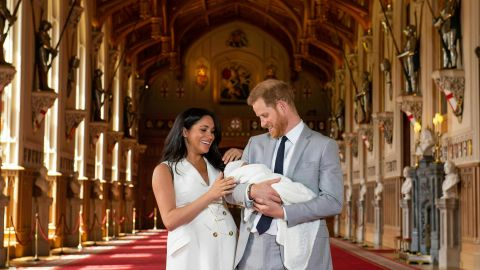 Archie is seventh in line to the throne, just behind his dad.