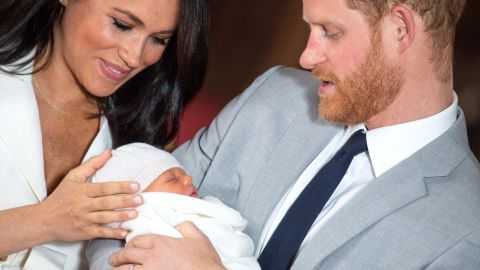 """Prince Harry said becoming a parent was """"amazing"""" as he held his son in his arms. """"We're just so thrilled to have our bundle of joy,"""" he said. """"We're looking forward to spending some precious time with him as he slowly starts to grow up."""""""
