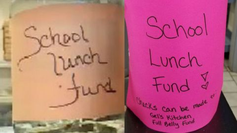 A Warwick, Rhode Island, business owner set up donation jars to ease the debt.