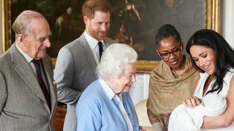 The Queen and The Duke of Edinburgh were introduced to the newborn son of The Duke & Duchess of Sussex at Windsor Castle. Ms Doria Ragland was also present. The Duke & Duchess of Sussex are delighted to announce that they have named their son Archie Harrison Mountbatten-Windsor.