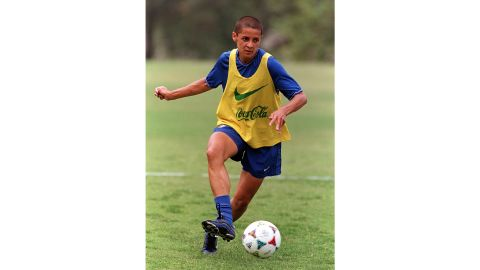 Sissi in training during the 1999 Women's World Cup.