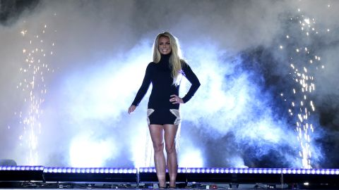 Britney Spears at the announcement of her Las Vegas residency in 2018