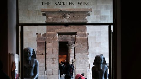 Patrons visit the Sackler Wing at the Metropolitan Museum of Art earlier this year.