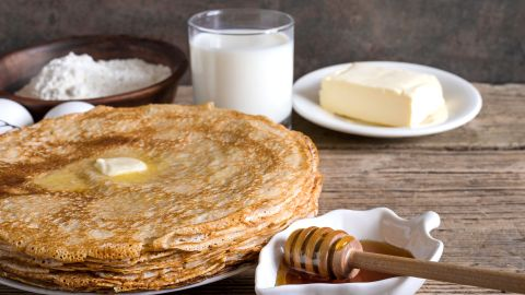 <strong>Ukraine: </strong>Syrniki are pancakes -- tender and fluffy on the inside and crispy golden brown on the outside.