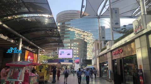 Gurugram's Cyber City, near New Delhi.