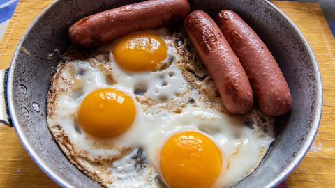 <strong>Germany: </strong>Eggs and sausage is standard breakfast fare.
