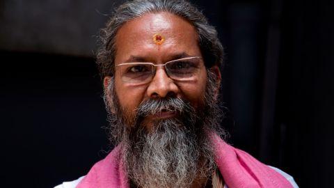 Ganesh Shankar Upadhyay, head priest of the Sri Kashi Karavat Mandir temple in Varanasi.