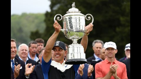 Brooks Koepka successfully defended his PGA Championship title after a thrilling finish at Bethpage Black.