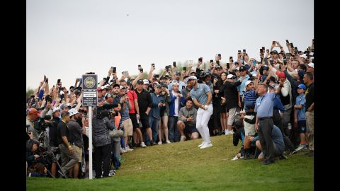 Koepka led by seven ahead of the final day but four straight bogeys on the back nine let in his close friend and the then world No.1 Dustin Johnson, who narrowed the gap to one.