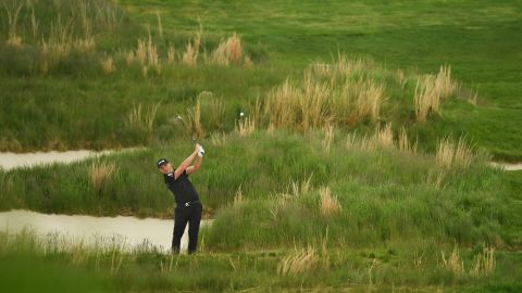 England's Matt Wallace was in the chasing pack well behind the leading two at Bethpage.