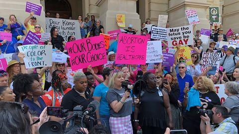 Abortion Law Protest Rally in Atlanta, GA