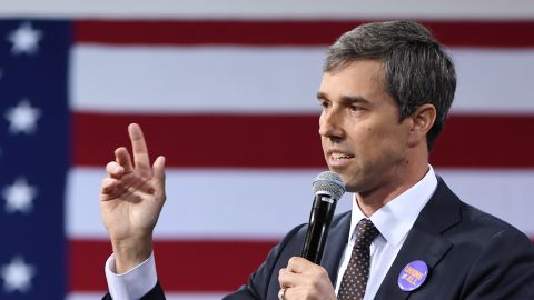 LAS VEGAS, NEVADA - APRIL 27:  Democratic presidential candidate Beto O'Rourke speaks at the National Forum on Wages and Working People: Creating an Economy That Works for All at Enclave on April 27, 2019 in Las Vegas, Nevada. Six of the 2020 Democratic presidential candidates are attending the forum, held by the Service Employees International Union and the Center for American Progress Action Fund, to share their economic policies.  (Photo by Ethan Miller/Getty Images)