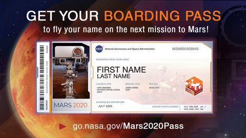 The souvenir boarding pass.