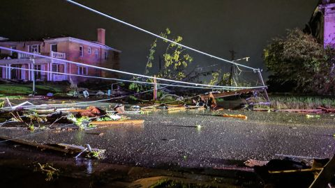The tornado near Jefferson City  sent debris 13,000 feet into the air, according to the National Weather Service.